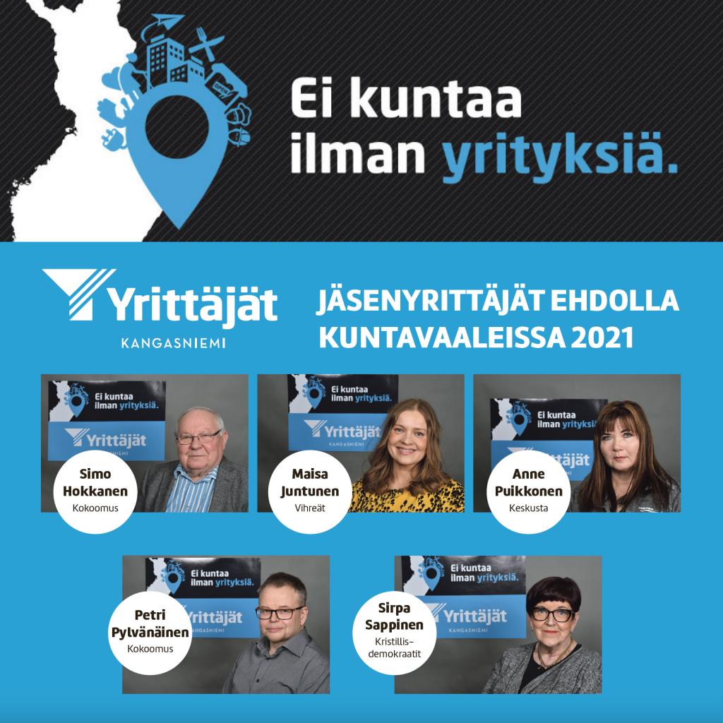 Kuntavaaliehdokkaat 2021, Kangasniemen Yrittäjät ry